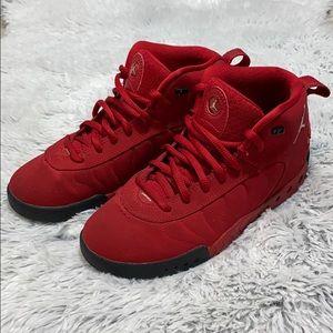 EUC Authentic Red Jordans Boy Size